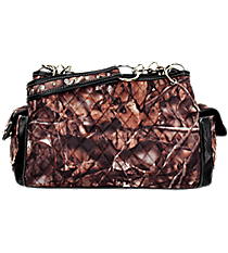 Quilted BNB Natural Camo Satchel with Black Trim #SNQ977-BLACK