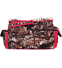 Quilted BNB Natural Camo Satchel with Hot Pink Trim #SNQ977-HPINK