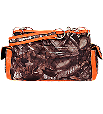 Quilted BNB Natural Camo Satchel with Orange Trim #SNQ977-ORANGE