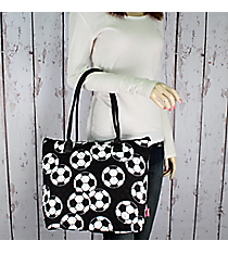 Soccer Quilted Shoulder Bag #SOC1515-BLACK