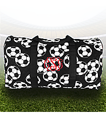 "21"" Soccer Quilted Duffle Bag #SOC2626-BLACK"