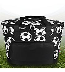 Soccer Cooler Tote with Lid #SOC89-BLACK