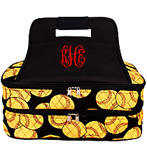 Softball Insulated Double Casserole Tote #SOF391-BLACK