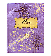 Believe Purple Witness Gear Hardcover Journal #JBB019S Cree Purpura Witness Gear Diarios de Tapa Dura #JBB019S
