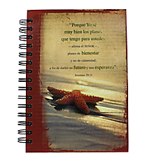 """I Know the Plans"" Large Wirebound Journal #JLF056S ""Yo se los Planes"" Gran Diario con Espiral #JLF056S"