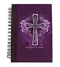 """Saved by His Grace"" Large Wirebound Journal #JLF068S ""Salvos por Su gracia"" Gran Diario con Espiral #JLF068S"
