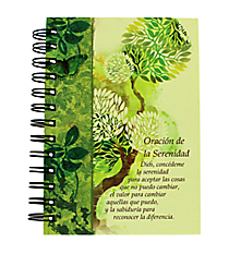"""Serenity Prayer"" Small Wirebound Journal #JSF025S ""Oracion de la Serenidad"" Pequeno Espiral Diario #JSF025S"