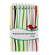 """My Grace is Sufficient"" Small Notebook #NP014S ""Mi Gracia es Todo lo Que Necesitas"" Pequeno Libreta #NP014S"