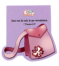 Little Miss Grace 1 Timothy 6:17 Purse Notepad #NPD005S Little Miss Grace 1 Timoteo 6:17 Libreta con Bolso #NPD005S