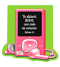 Little Miss Grace Psalm 9:1 iPod Notepad #NPD006S Little Miss Grace Salmos 9:1 Libreta con iPod #NPD006S