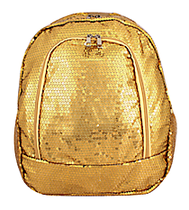 Gold Sequined Large Backpack #SQB403-GOLD