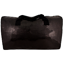 "21"" Black Sequined Duffle Bag #SQB592-BLACK"