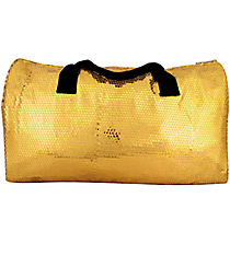 "21"" Gold Sequined Duffle Bag #SQB592-GOLD"