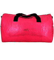 "21"" Hot Pink Sequined Duffle Bag #SQB592-H/PINK"