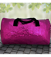 "21"" Purple Sequined Duffle Bag #SQB592-PURPLE"