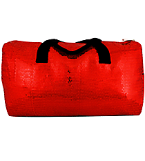 "21"" Red Sequined Duffle Bag #SQB592-RED"