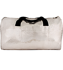 "21"" Silver Sequined Duffle Bag #SQB592-SILVER"