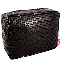 Black Sequined Cosmetic Case #SQB613-BLACK