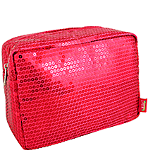Hot Pink Sequined Cosmetic Case #SQB613-HPINK