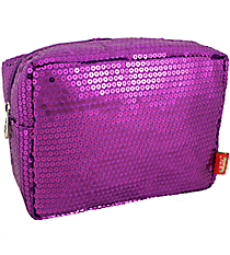 Purple Sequined Cosmetic Case #SQB613-PURPLE