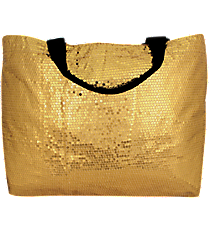 Gold Bling Sequined Large Shoulder Tote #SQB678-GOLD