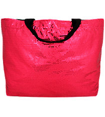 Hot Pink Bling Sequined Large Shoulder Tote #SQB678-H/PINK