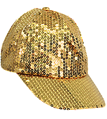 Gold Sequined Cap #SQB899-GOLD