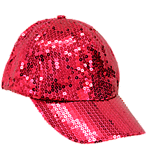 Hot Pink Sequined Cap #SQB899-H/PINK