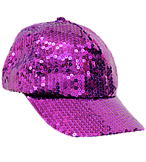 Purple Sequined Cap #SQB899-PURPLE
