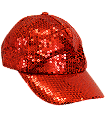 Red Sequined Cap #SQB899-RED