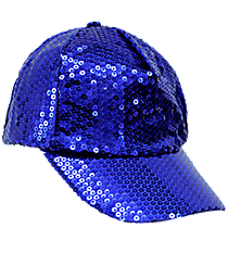 Royal Blue Sequined Cap #SQB899-ROY/BLUE