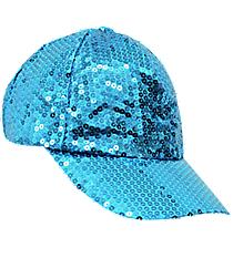 Turquoise Sequined Cap #SQB899-TURQ