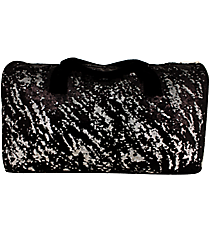 "21"" Black Bling Sequined Duffle Bag #SQC592-BLACK"