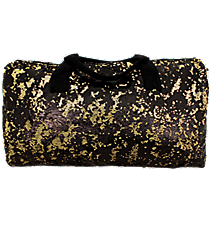 "21"" Black and Gold Bling Sequined Duffle Bag #SQC592-BK/GOLD"