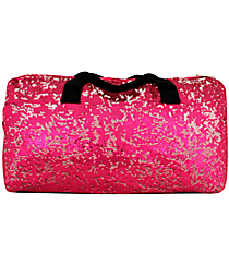 "21"" Hot Pink Bling Sequined Duffle Bag #SQC592-H/PINK"