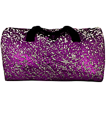 "21"" Purple Bling Sequined Duffle Bag #SQC592-PURPLE"