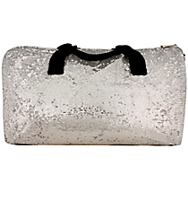 "21"" Silver Bling Sequined Duffle Bag #SQC592-SILVER"