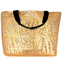Gold Bling Large Shoulder Tote #SQC678-GOLD