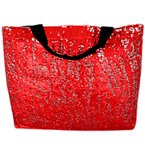 Red Bling Large Shoulder Tote #SQC678-RED
