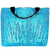 Turquoise Bling Large Shoulder Tote #SQC678-TURQ