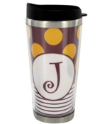 Gameday Burgundy & Gold Stainless Steel Travel Tumbler #579 *Choose Your Initial