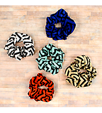 One Chevron Scrunchie #SS1273-SHIPS ASSORTED