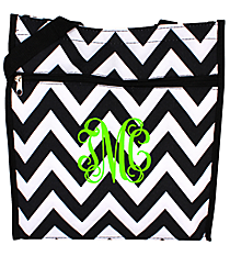 Black and White Chevron Shopper Tote #ST13-1324B