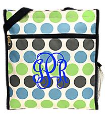 Tri-Colored Polka Dots Shopper Tote #ST13-1331-1