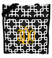 Black and White Overlapping Squares Shopper Tote #ST13-1333