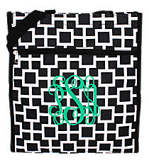 Black and White Connecting Squares Shopper Tote #ST13-1334-1