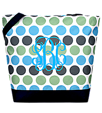 Market Shopping Tote in Tri-Colored Polka Dots #ST18-1331-1