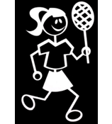 Tennis Female Vinyl Car Decal #SF03