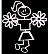 Cheerleader Female Vinyl Car Decal #SF04