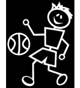 Basketball Male Vinyl Car Decal #SF07